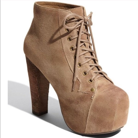 008885bb287 Jeffrey Campbell Shoes - Jeffrey Campbell Lita Booties Tan Suede